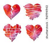 Handmade Watercolour Red Heart...
