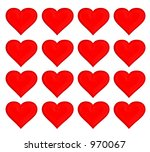 14 february red hot hearts | Shutterstock . vector #970067
