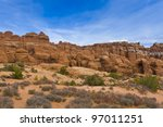 Rock Formations in Arches National Park, Utah, USA - stock photo