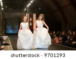 two girls on a wedding | Shutterstock . vector #9701293