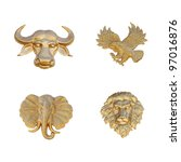 Gold Emblem Of Animal Mask ...