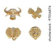Gold Emblem Of Animal Mask ...