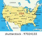 the united states of america  ... | Shutterstock .eps vector #97024133