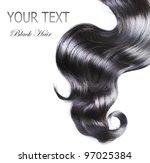 black hair over white | Shutterstock . vector #97025384
