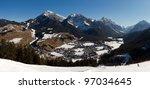 mountain village panorama | Shutterstock . vector #97034645