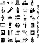 hotel icons   Shutterstock .eps vector #97035290