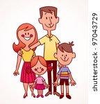 family | Shutterstock . vector #97043729