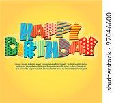 happy birthday | Shutterstock .eps vector #97046600