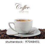 fresh coffee | Shutterstock . vector #97048451