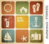 vector summer poster made from... | Shutterstock .eps vector #97049351
