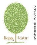 happy easter | Shutterstock .eps vector #97049372