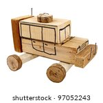 Hand Made Wooden Toy Car...