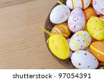 Easter eggs with great light and amazing colors - stock photo
