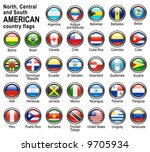 shiny web buttons with american ... | Shutterstock .eps vector #9705934