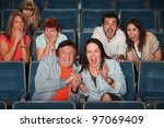 group of frightened people... | Shutterstock . vector #97069409