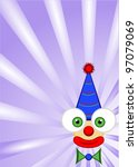 funny clown with blue pointy...   Shutterstock .eps vector #97079069