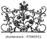 door lattice  france  18th...   Shutterstock . vector #97085921