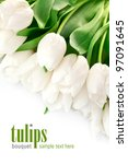 Bouquet Of White Tulips With...