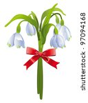 bouquet of snowdrops with a red ...   Shutterstock .eps vector #97094168