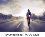 Young Musician Walking On A...