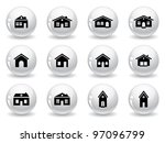 web buttons  house and... | Shutterstock .eps vector #97096799