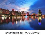 orlando downtown skyline over... | Shutterstock . vector #97108949