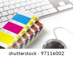 color swatches and keyboard | Shutterstock . vector #97116002