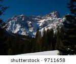 winter mountain landscape in... | Shutterstock . vector #9711658