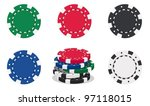 illustration of casino chips on ...