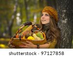 Young Woman Holding Vegetables...