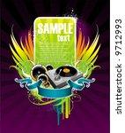 illustration on a musical theme ... | Shutterstock .eps vector #9712993