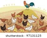 country scene | Shutterstock .eps vector #97131125