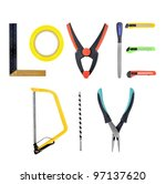 assorted hand tools on white... | Shutterstock . vector #97137620
