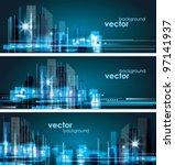 city landscape | Shutterstock .eps vector #97141937