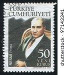 turkey   circa 2007  stamp...   Shutterstock . vector #97143341