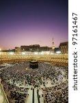 muslim pilgrims circumambulate... | Shutterstock . vector #97161467
