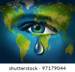 world poverty and natural... | Shutterstock . vector #97179044