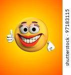 female cartoon face | Shutterstock . vector #97183115