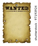 Old Western Wanted Poster With...