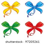 four different colored bow | Shutterstock .eps vector #97205261