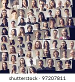 composition of different people ... | Shutterstock . vector #97207811