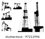 silhouettes of units for oil...   Shutterstock .eps vector #97211996