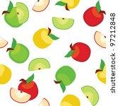 apples pattern   Shutterstock .eps vector #97212848
