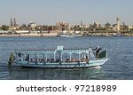 """A typical ship on the river Nile at """"Luxor"""" in Egypt - stock photo"""