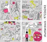 italy  england  france  usa  ... | Shutterstock .eps vector #97226243