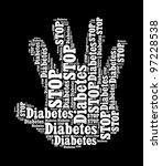 Stop Diabetes Sign In Word...