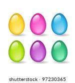 color glass eggs | Shutterstock .eps vector #97230365