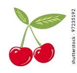 cherry isolated vector... | Shutterstock .eps vector #97235192