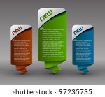 web style banner elements... | Shutterstock .eps vector #97235735