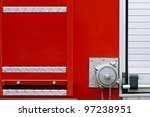 Back End Of A Fire Truck With ...